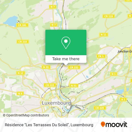 """Résidence """"Les Terrasses Du Soleil"""" map"""
