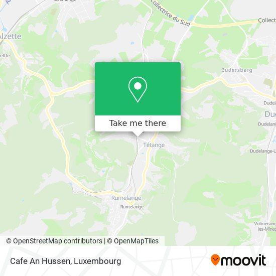Cafe An Hussen map