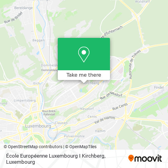 École Européenne Luxembourg I Kirchberg map
