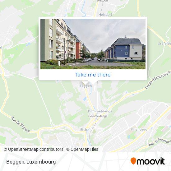 Beggen map