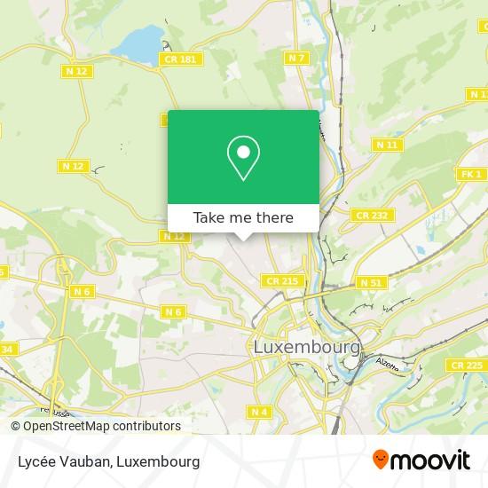 Lycée Vauban map