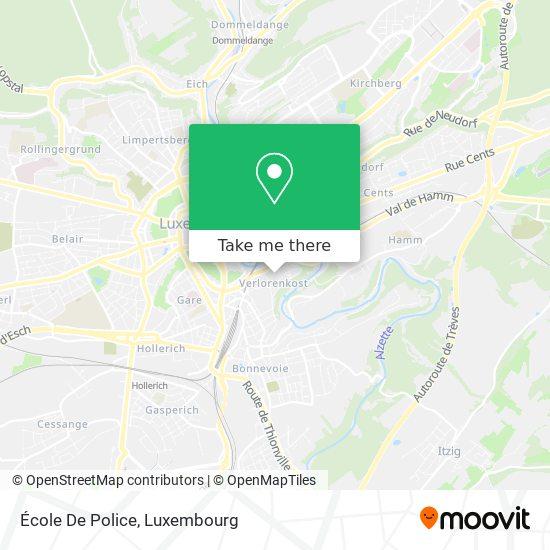 École De Police map