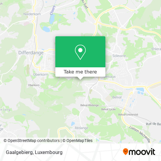 Gaalgebierg map