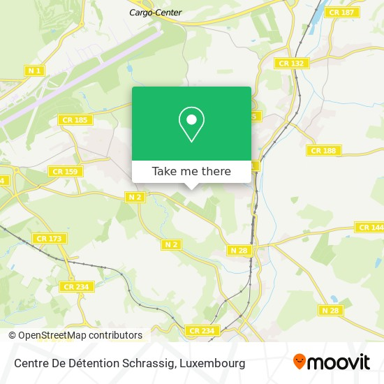 Centre De Détention Schrassig map