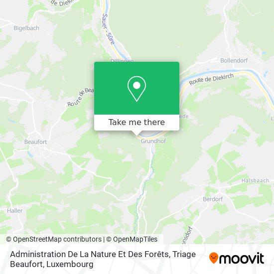 Administration De La Nature Et Des Forêts, Triage Beaufort map