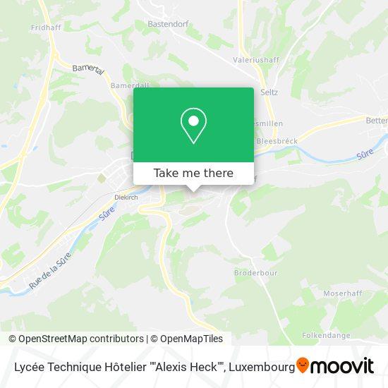 """Lycée Technique Hôtelier """"Alexis Heck"""" map"""