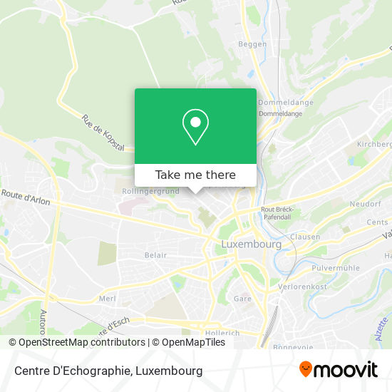 Centre D'Echographie map