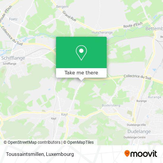 Toussaintsmillen map