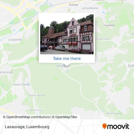 Lasauvage map