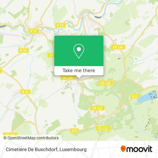 Cimetière De Buschdorf map