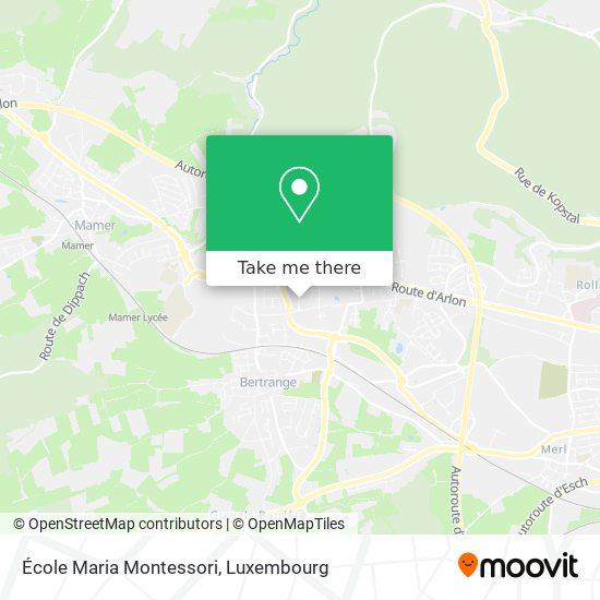 École Maria Montessori map