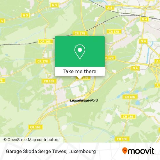 Garage Skoda Serge Tewes map