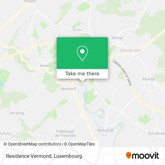 Residence Vermond map