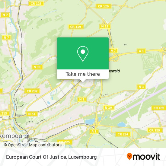 European Court Of Justice map