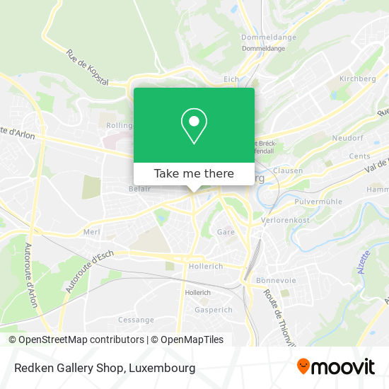 Redken Gallery Shop map