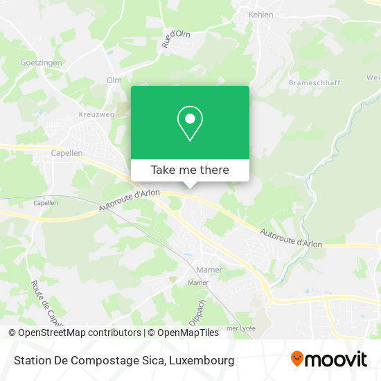 Station De Compostage Sica map