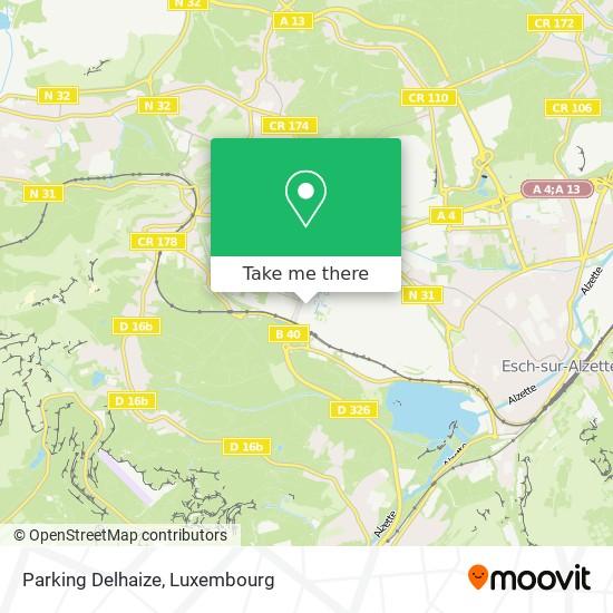 Parking Delhaize map