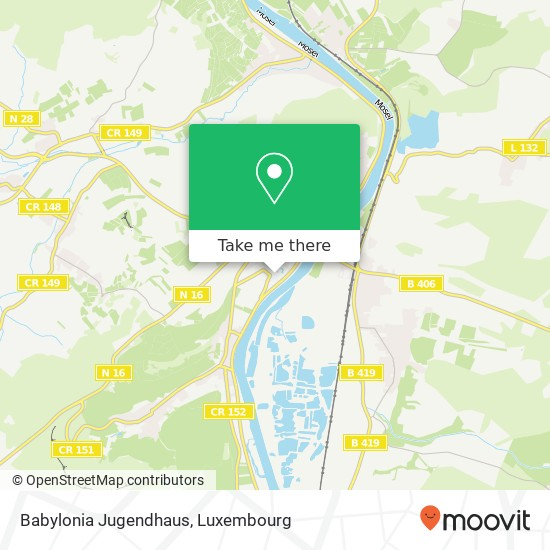 Babylonia Jugendhaus mapa