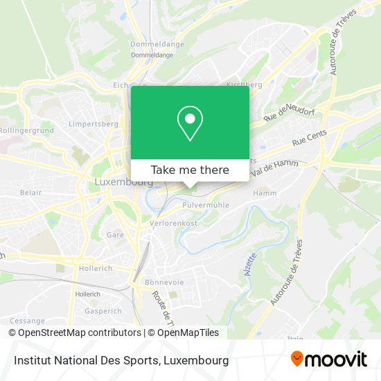 Institut National Des Sports map
