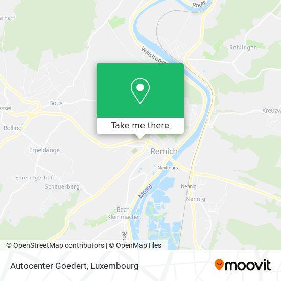 Autocenter Goedert map
