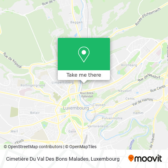 Cimetière Du Val Des Bons Malades map