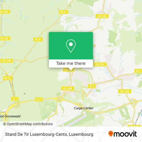 Stand De Tir Luxembourg-Cents map