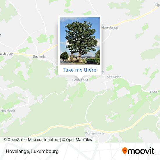 Hovelange map