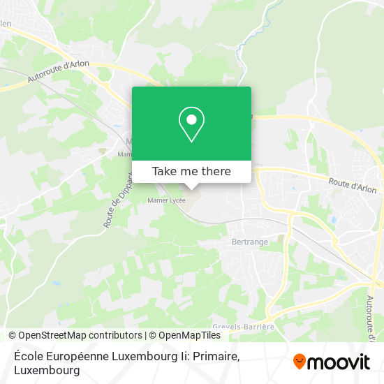 École Européenne Luxembourg Ii: Primaire map