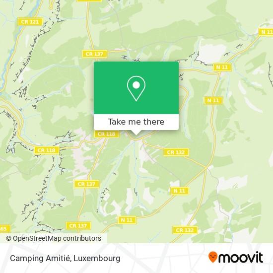 Camping Amitié map