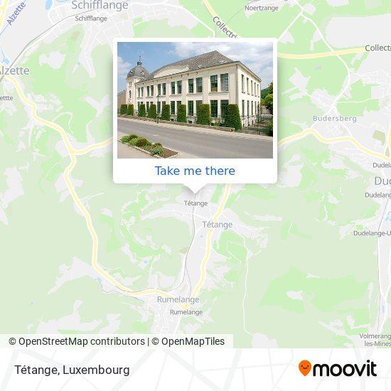 Tétange map