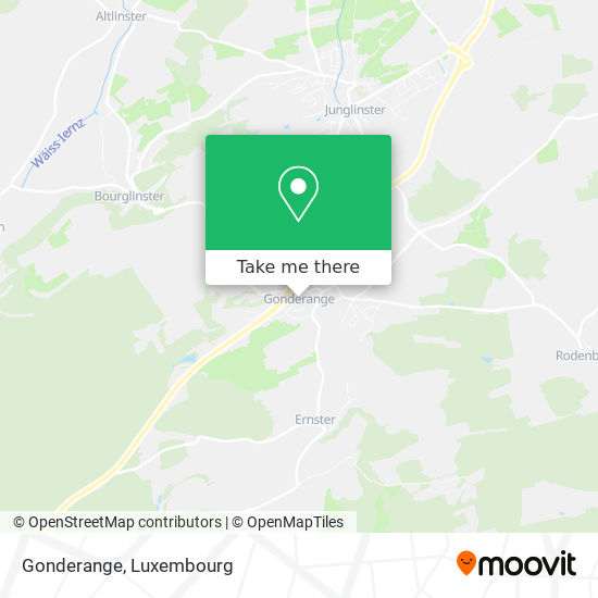 Gonderange map
