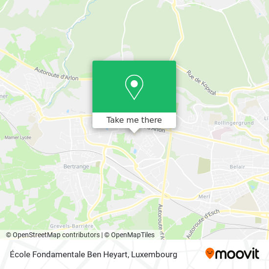 École Ben Heyart map