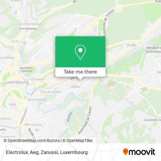 Electrolux, Aeg, Zanussi map