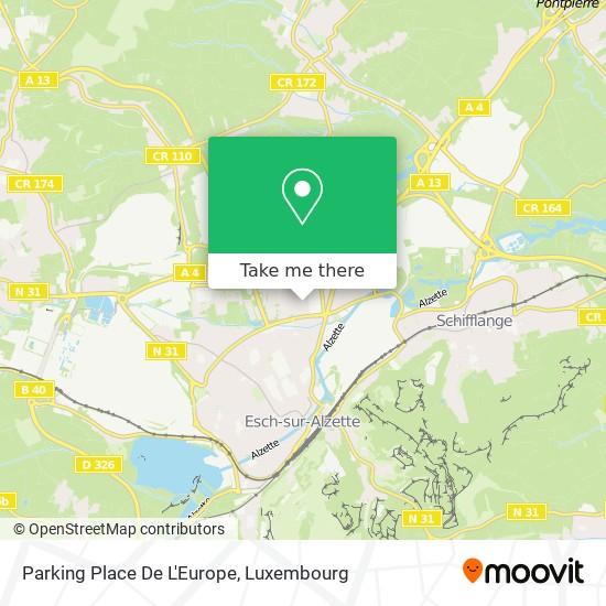 Parking Place De L'Europe map
