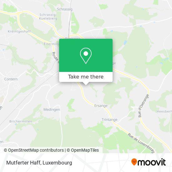 Mutferter Haff map