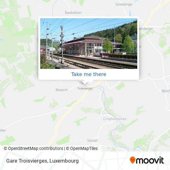 Gare Troisvierges map