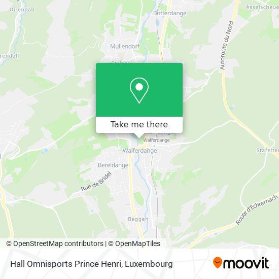 Hall Omnisports Prince Henri map