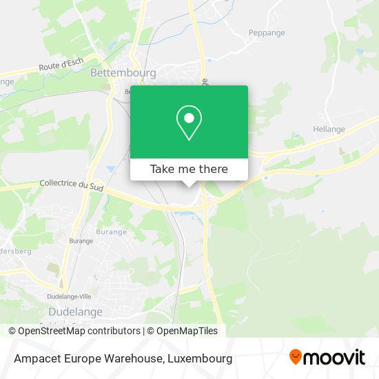 Ampacet Europe Warehouse map