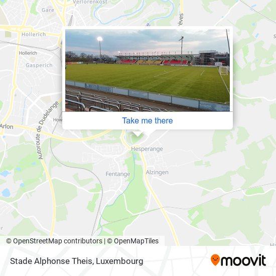 Stade Alphonse Theis map