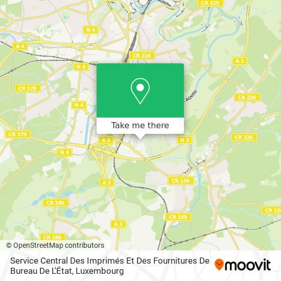 Service Central Des Imprimés Et Des Fournitures De Bureau De L'État map