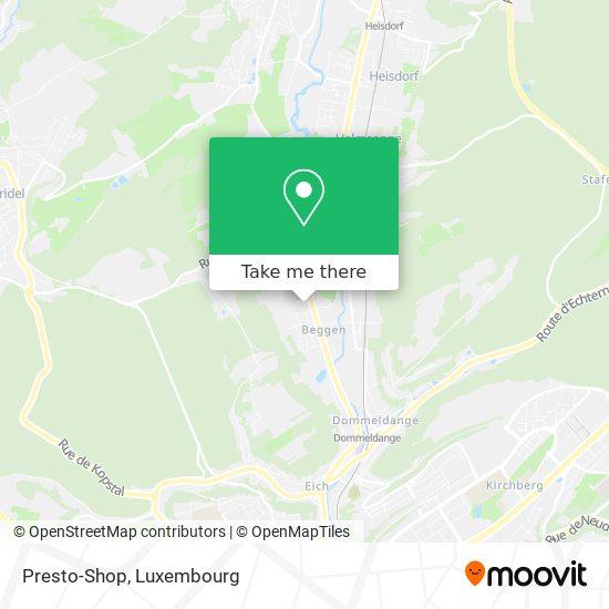 Presto-Shop map