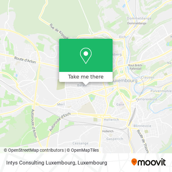 Intys Consulting Luxembourg map