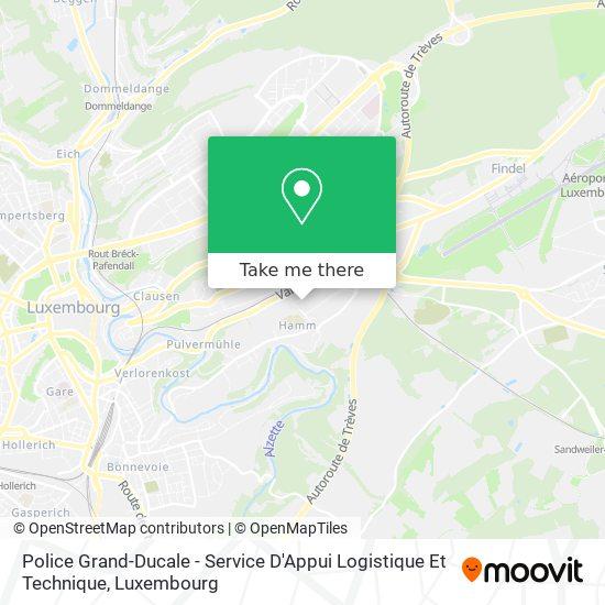 Police Grand-Ducale - Service D'Appui Logistique Et Technique map