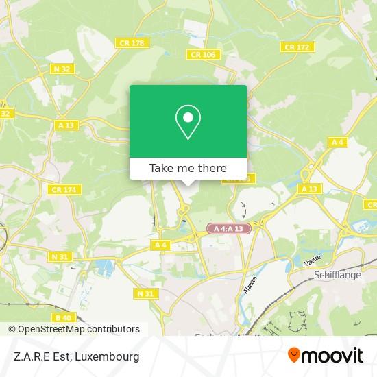 Z.A.R.E Est map