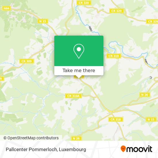 Pallcenter Pommerloch map