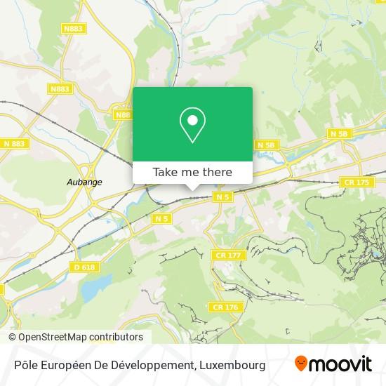 Pôle Européen De Développement map