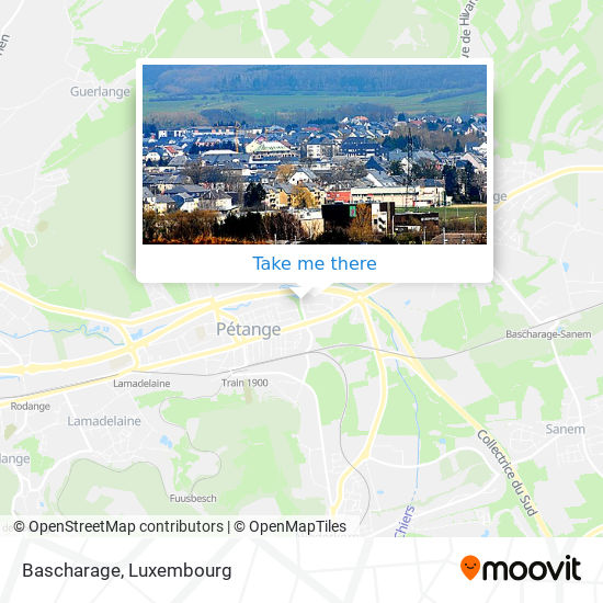 Bascharage map