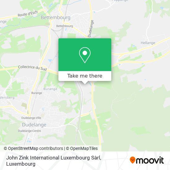 John Zink International Luxembourg Sàrl map