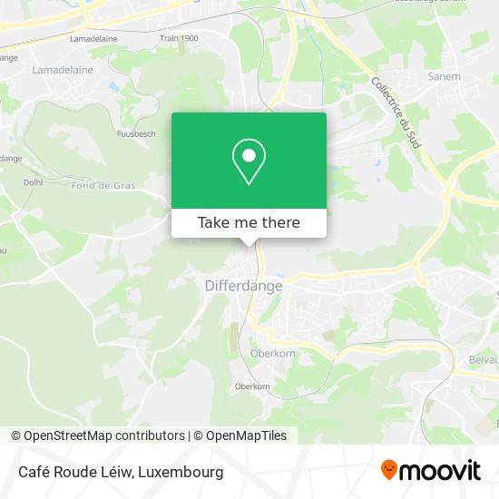 Café Roude Léiw map