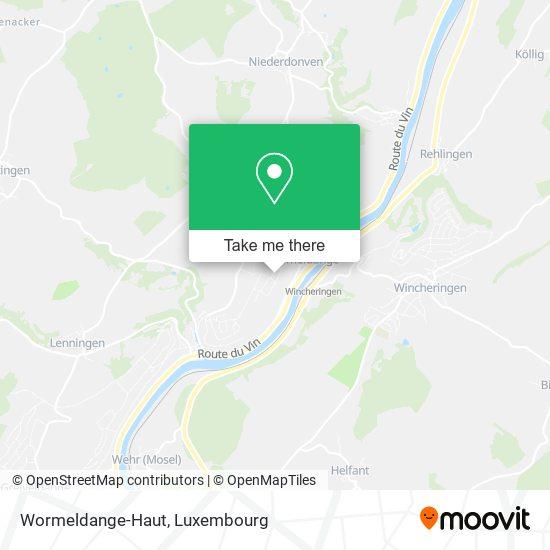 Wormeldange-Haut map